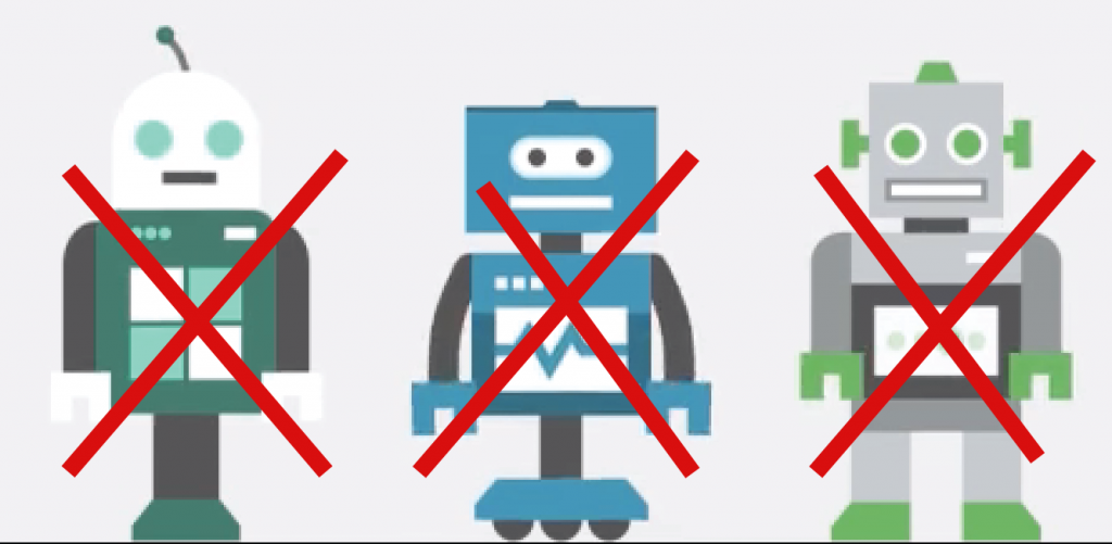 We are not robots